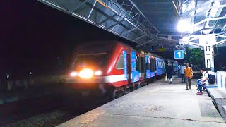 Brilliant colors Jangipur DEMU Train entered into the station & the passengers moved lazily