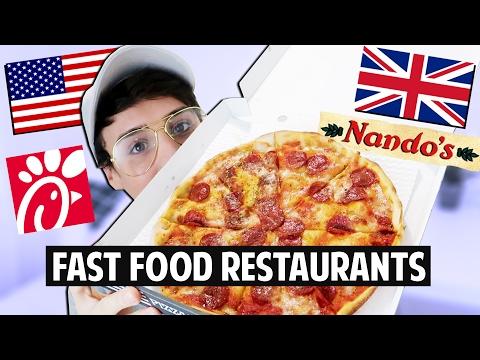 AMERICAN vs. BRITISH Fast Food Restaurants