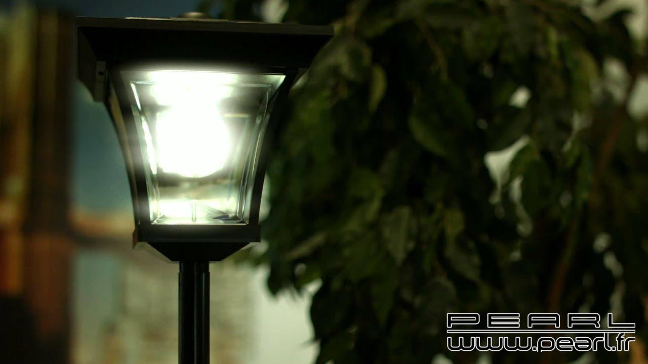 Nx3758 lampadaire de jardin solaire led 200 cm youtube - Lampadaire de jardin solaire ...