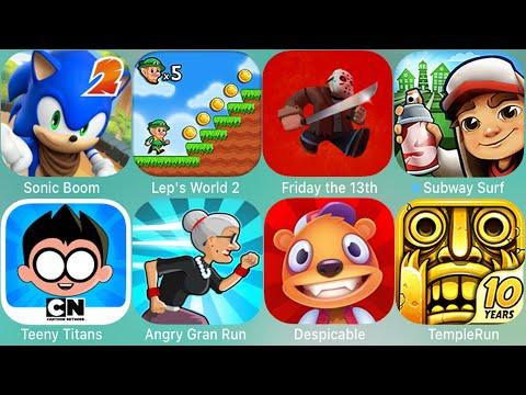 Super Mario Run,Teen Titans Go,Subway Surfers,Miraculous,Spider-Man,Sonic,Gran Run,Friday The 13th