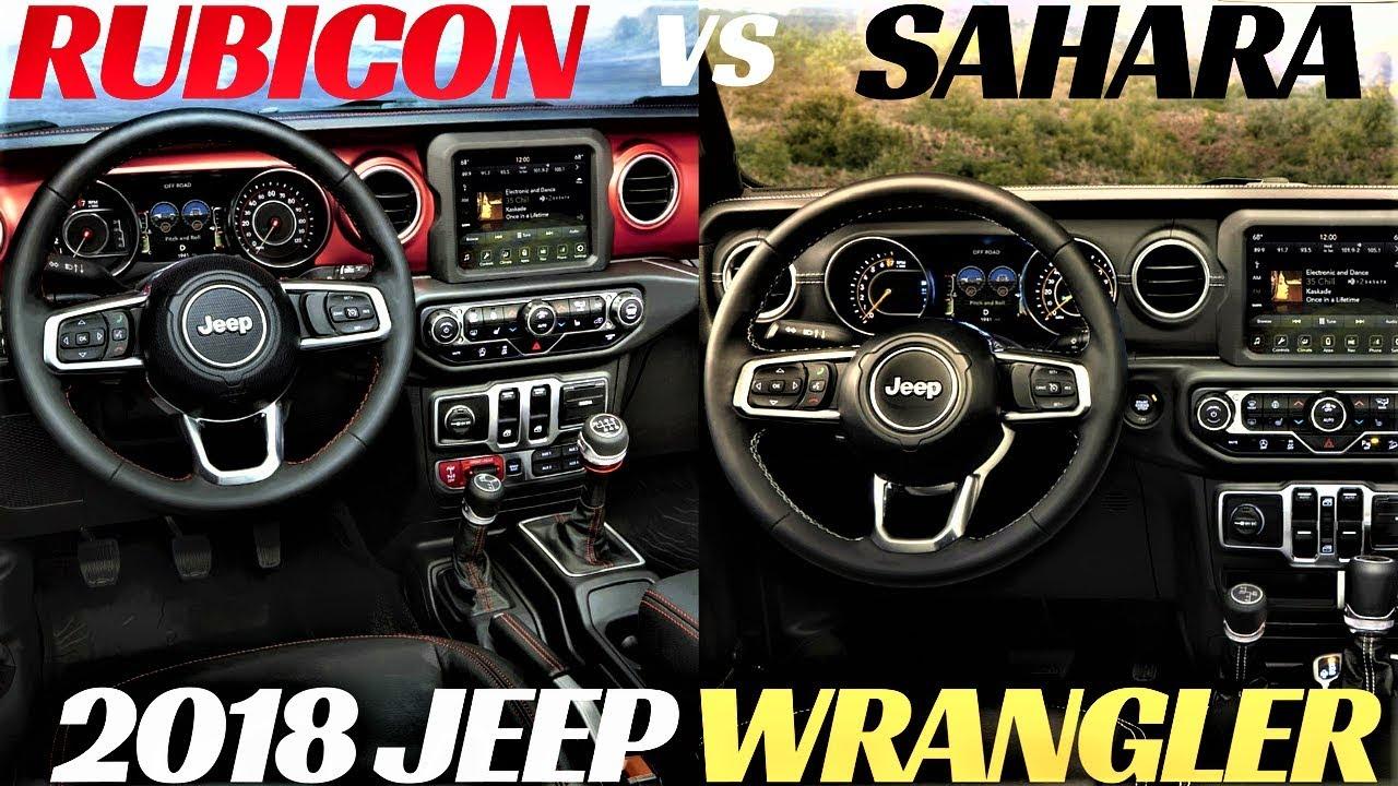 2018 Jeep Wrangler Interior Sahara Vs Rubicon Youtube