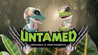 Untamed Raptor by Fingerlings - Blaze (Orange) - Interactive Collectible Dinosaur - By WowWee