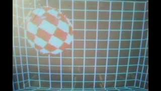 Commodore 128 / 1750 RAM Expansion Bouncing Ball Demo