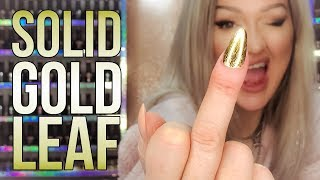 How To Use Gold Leaf to Create a Solid Gold Nail Design