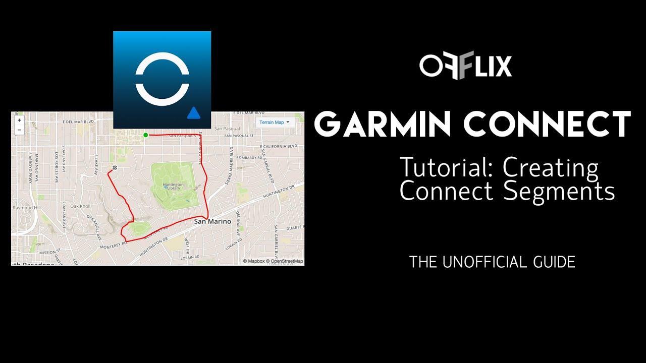 Create Segments In Garmin Connect