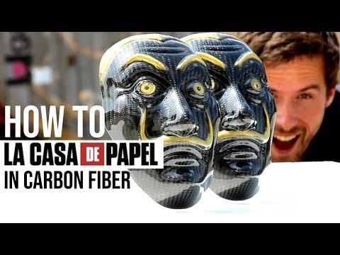 Casa De Papel - Carbon Fiber Mask (How it's Made)