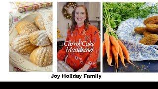 Carrot Cake Madeleines -  GLUTEN FREE - EASTER!