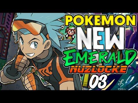 SEGUNDO GINÁSIO E O POKÉMON DESTRUIDOR! - Pokémon New Emerald Nuzlocke (03) +download [GBA]