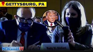 Nov. 25: Trump phones in to legal team's address