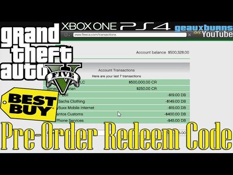 Gta V Best Buy Pre Order Redeem Code Ps4 Xbox One Youtube