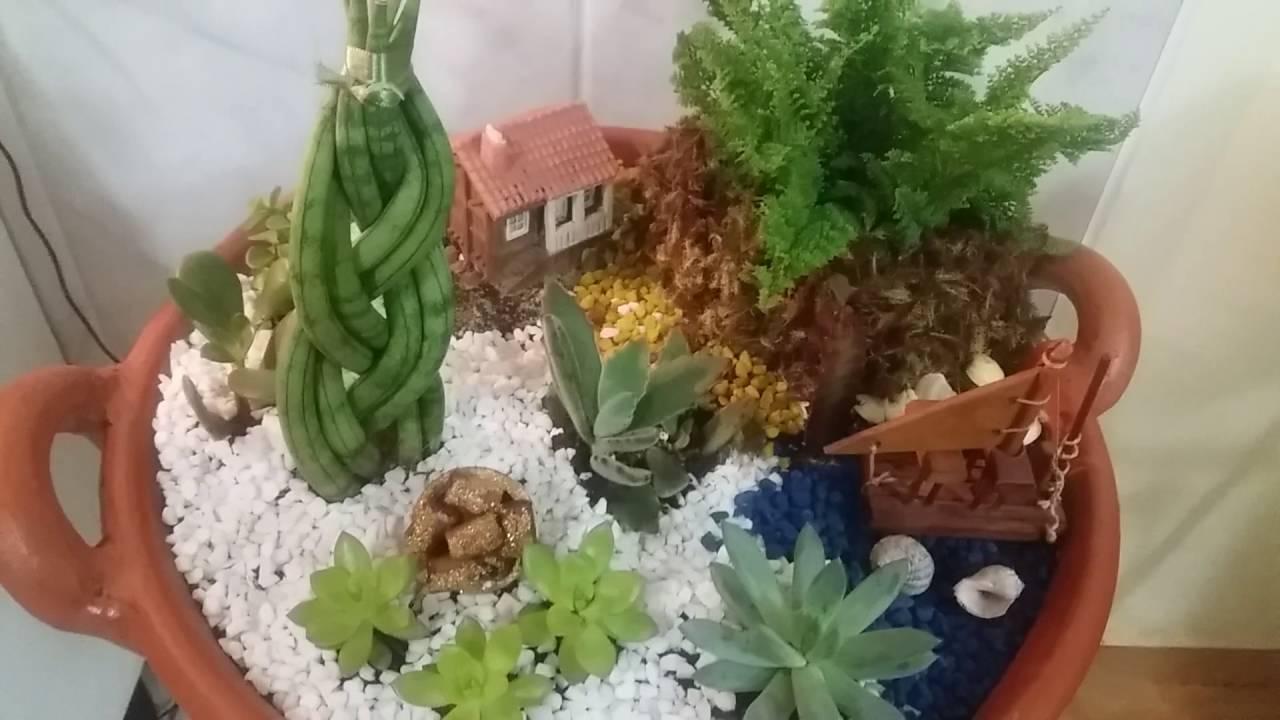Vaso suculentas mini jardim decorado YouTube
