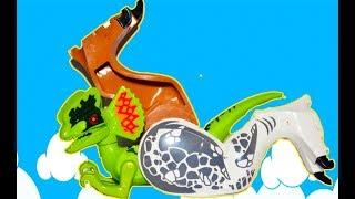 ЛЕГО Динозавры и Змея - Лапы за Сосиску Обмен! Тираннозавр и Индоминус объединились! Выбирай Приз!