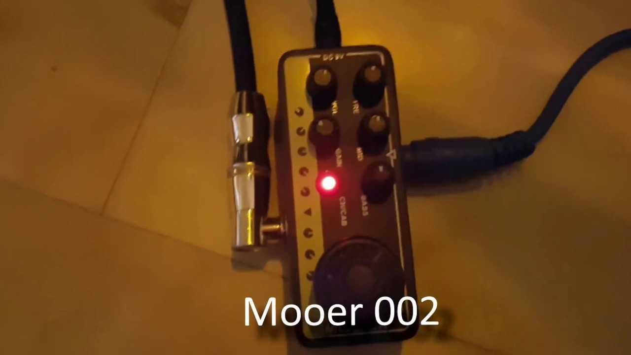 Fortin Grind Boosted Mooer 002 Youtube Micro Preamp Uk Gold 900 Based On Marshall Jcm900