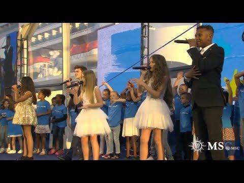 Kids United - Heal The World (Pour L'inauguration D'un Nouveau Bateau De Croisière Au Havre)