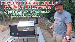 Perfect Portable Pellet Grill for RVers/Tailgaters   Green Mountain Grills Davy Crockett