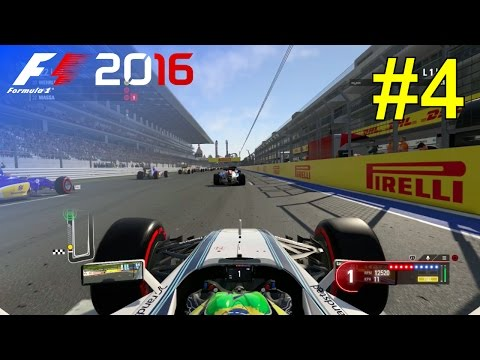 F1 2016 - Let's Make Massa World Champion #4 - 100% Race 'Russia'