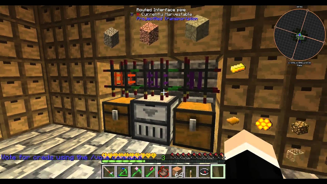 FTB Infinity Evolved storage using Storage Drawers and Project Red- no  power required