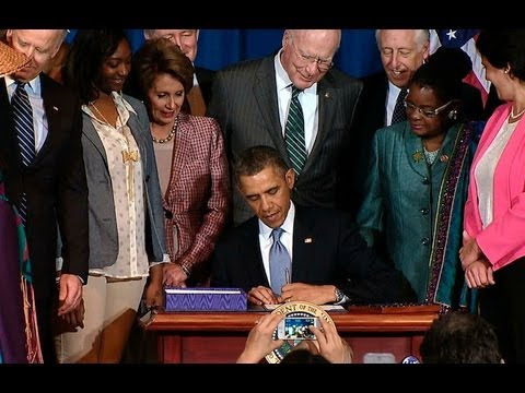 President Obama Signs the Violence Against Women Act Reauthorization
