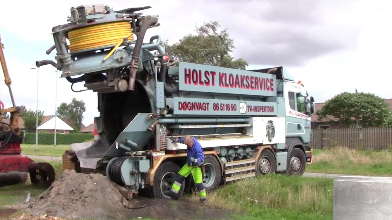 Emptying The Sewer Cleaner Truck Youtube