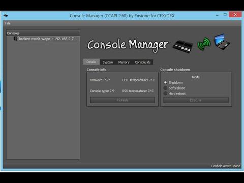 Instalar/ CCAPI 2.60 Control Console en PC y Ps3  Download Link