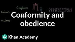 Conformity and obedience | Behavior | MCAT | Khan Academy