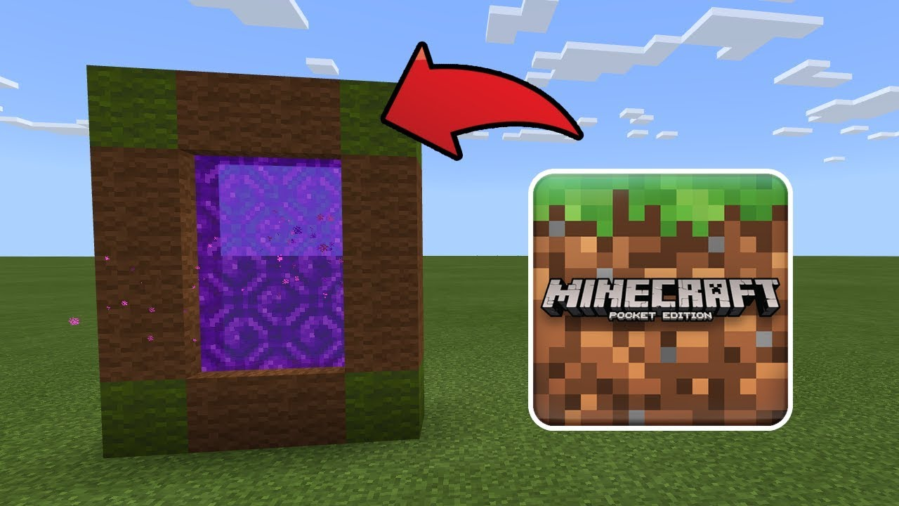 How To Make a Portal to the Minecraft Dimension in MCPE (Minecraft PE)