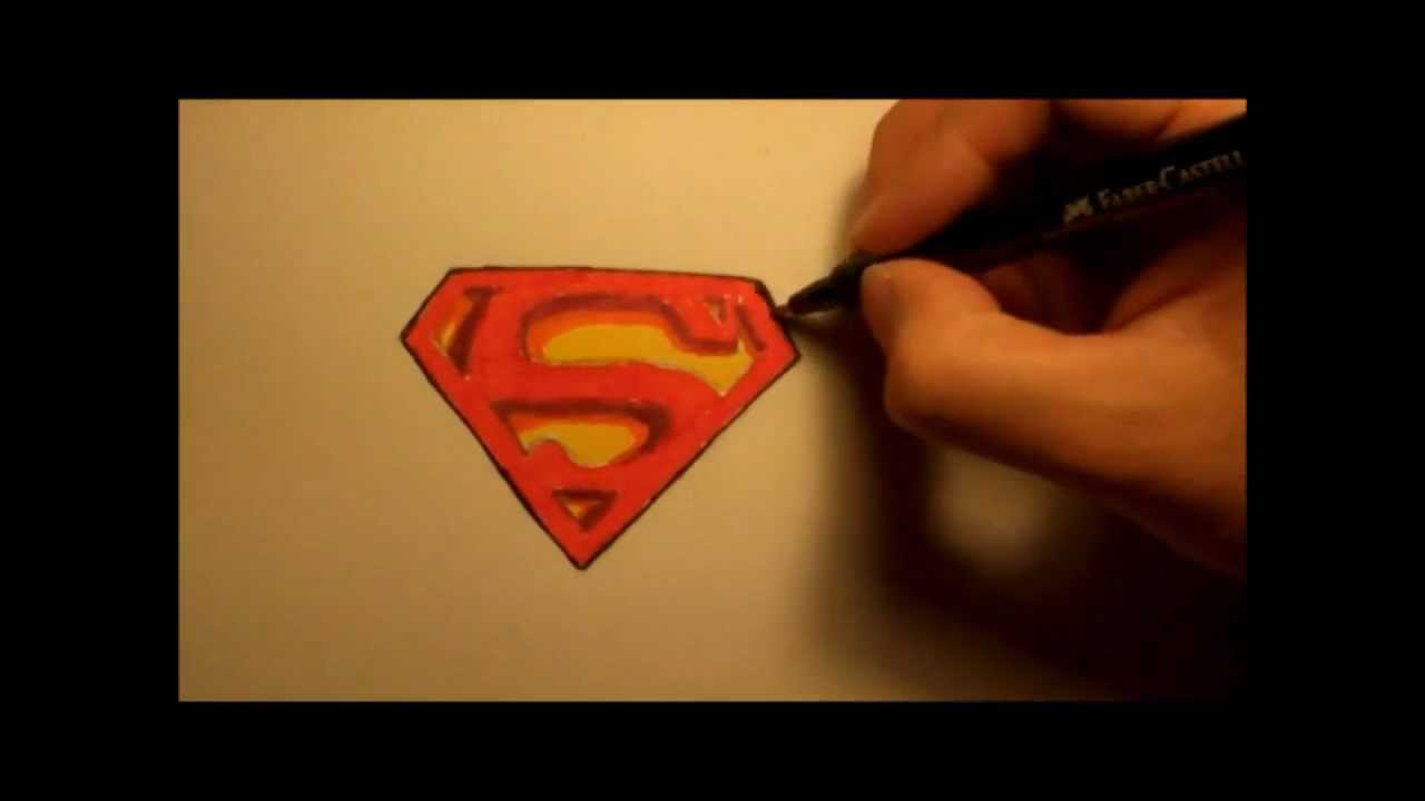 How To Draw Superman Logo In 3d Step By Step Youtube