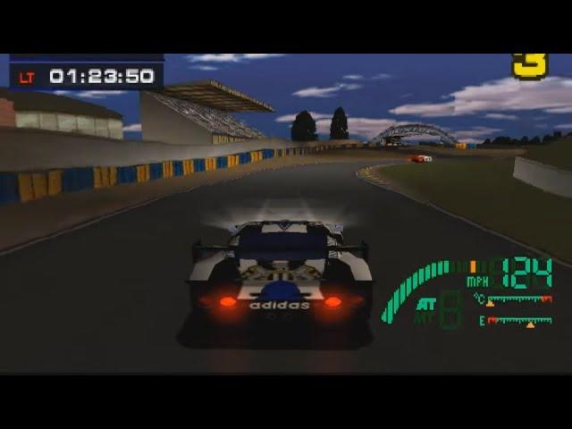 Test Drive Le Mans (PS1) - 24 Hour Race (12 minutes)