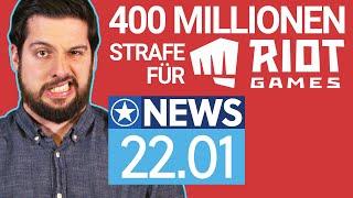 Riot Games: Behörde will statt 10 Mio jetzt 400 Mio Strafe - News