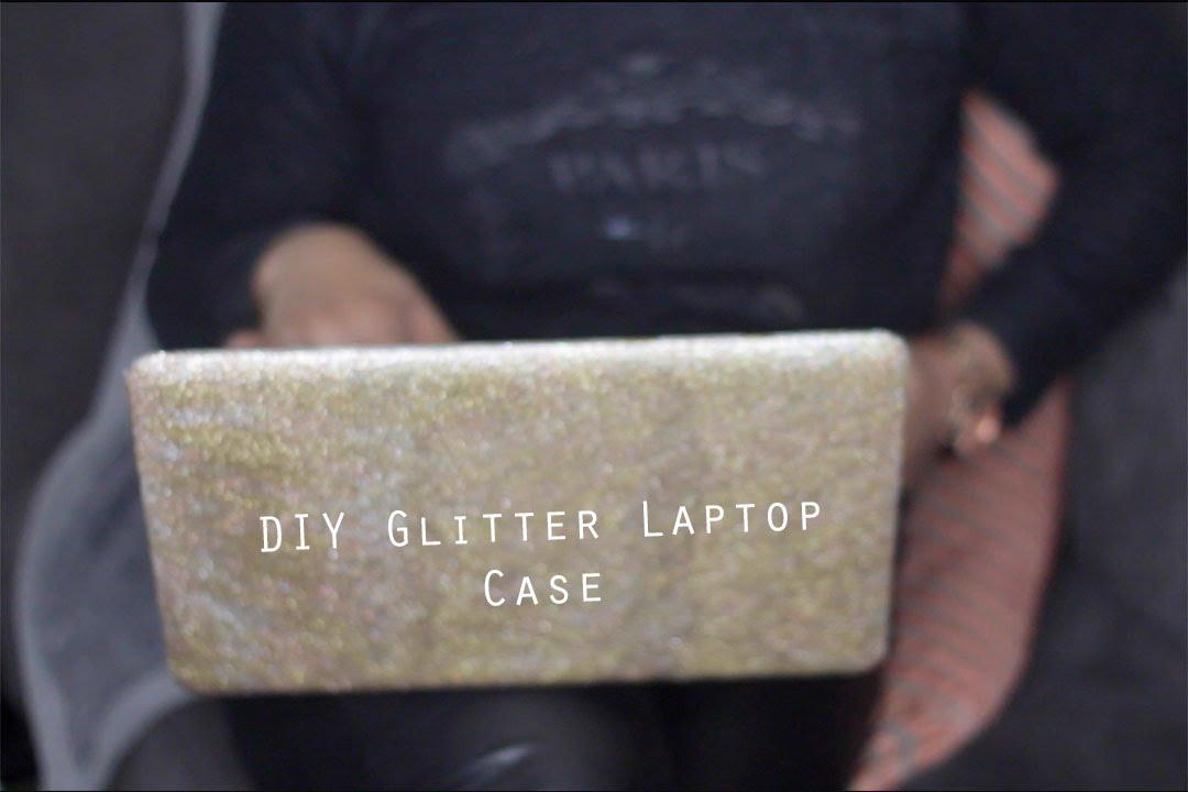 Simple DIY | Glitter Glam Laptop Case - YouTube