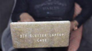 Simple Diy   Glitter Glam Laptop Case
