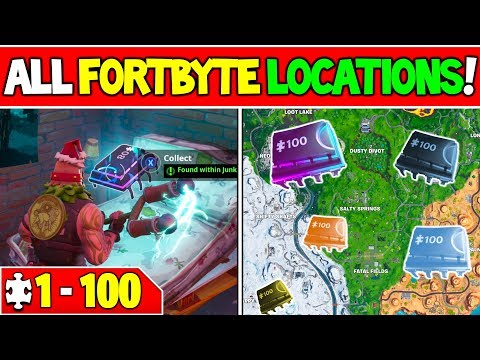 ALL FORTBYTE LOCATIONS! - Fortbyte 8, 17, 64, 81, 82 +More