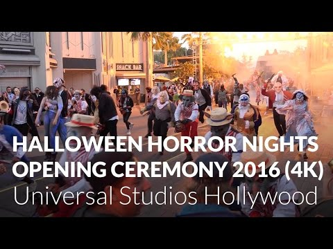 Halloween Horror Nights 2016 Opening Ceremony - Front Row - Universal Studios Hollywood