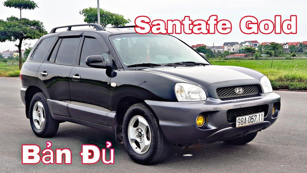 Hyundai Santafe Gold 2.0VGT - 4A/T - bản full, 2 túi khí   máy dầu - số tự động   đẹp xuất sắc 235tr