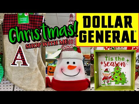 DOLLAR GENERAL Come Shop With Me For Christmas Decor At AMAZING PRICES!