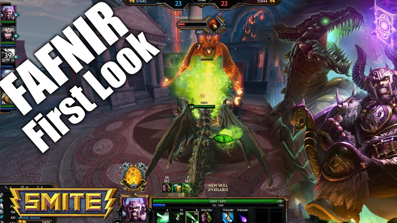 SMITE Fafnir Gameplay (PTS First Look) - YouTube