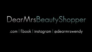 Welcome to Dear Mrs. Beauty Shopper! Please Subscribe For A Fun Beauty Shopping Experience. Thumbnail