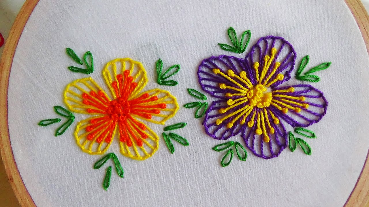 Bed sheet designs hand embroidery - Hand Embroidery Blanket Stitch Amp Button Hole Stitch