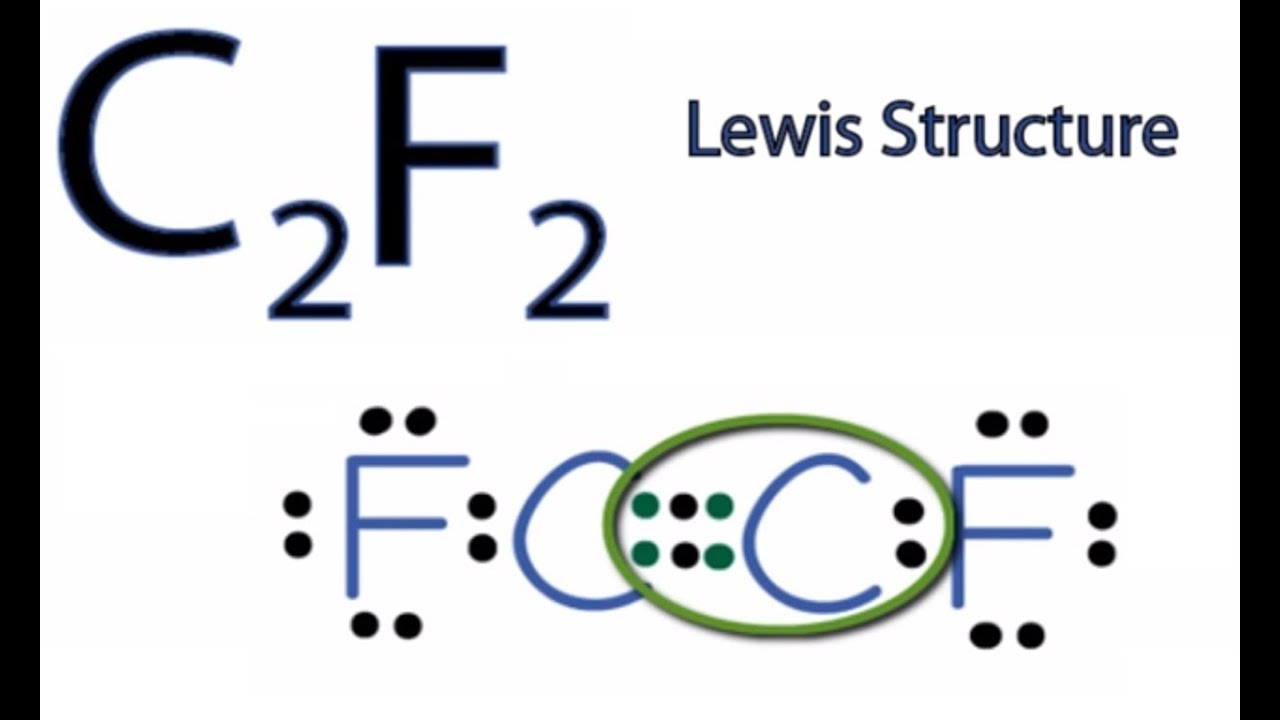 C2f2 Lewis Structure How To Draw The Lewis Structure For C2f2 Youtube