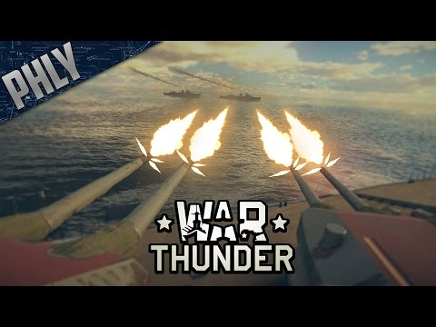 WAR THUNDER SHIPS - Ship Footage & Discussion (War Thunder Naval Battles)