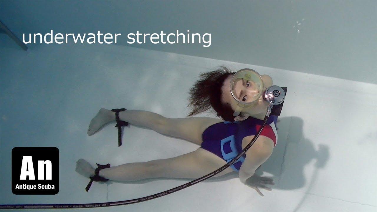 underwater yoga  stretching