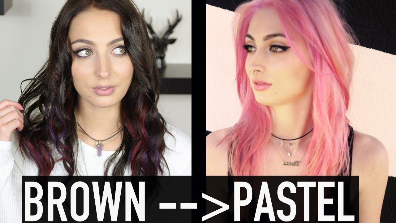 How To Brown To Pastel Hair Youtube