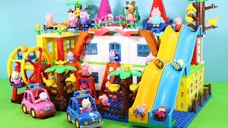 Peppa Pig Building Blocks House Toys For Kids - Lego Duplo House With Water Slide Creations Toys #9
