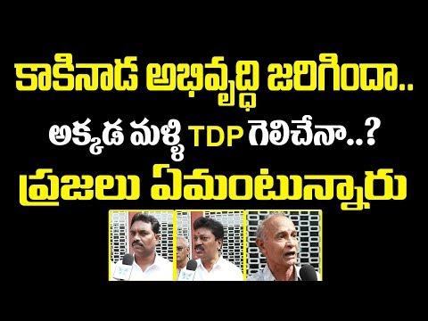 కాకినాడ అభివృద్ధి జరిగిందా? అక్కడ మళ్ళి TDP గెలిచేనా? Kakinada Urban Public Talk On AP 2019 Politics