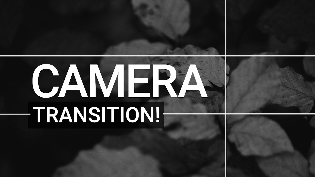 Camera Transition After Effects Tutorial! - Great For Photo & Video  Slidehows!