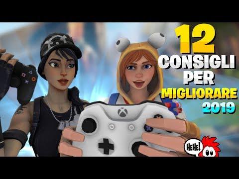 12 CONSIGLI PER MIGLIORARE IN FORTNITE SU PS4 & XBOX ONE (2019) ⛏️ Pazzox