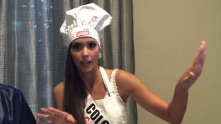 Miss Colombia Universe 2014 Paulina Vega entrevistado por Realandia Jewelry durante evento de Badia Thumbnail