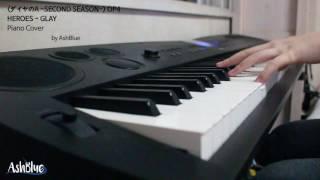 """다이아몬드 에이스 SECOND SEASON ダイヤのA -SECOND SEASON-] HEROES - GLAY (OP1) _ 피아노 커버 Piano Cover *영상 내의 자막 중 """"OP4""""를 """"OP1""""로 ..."""