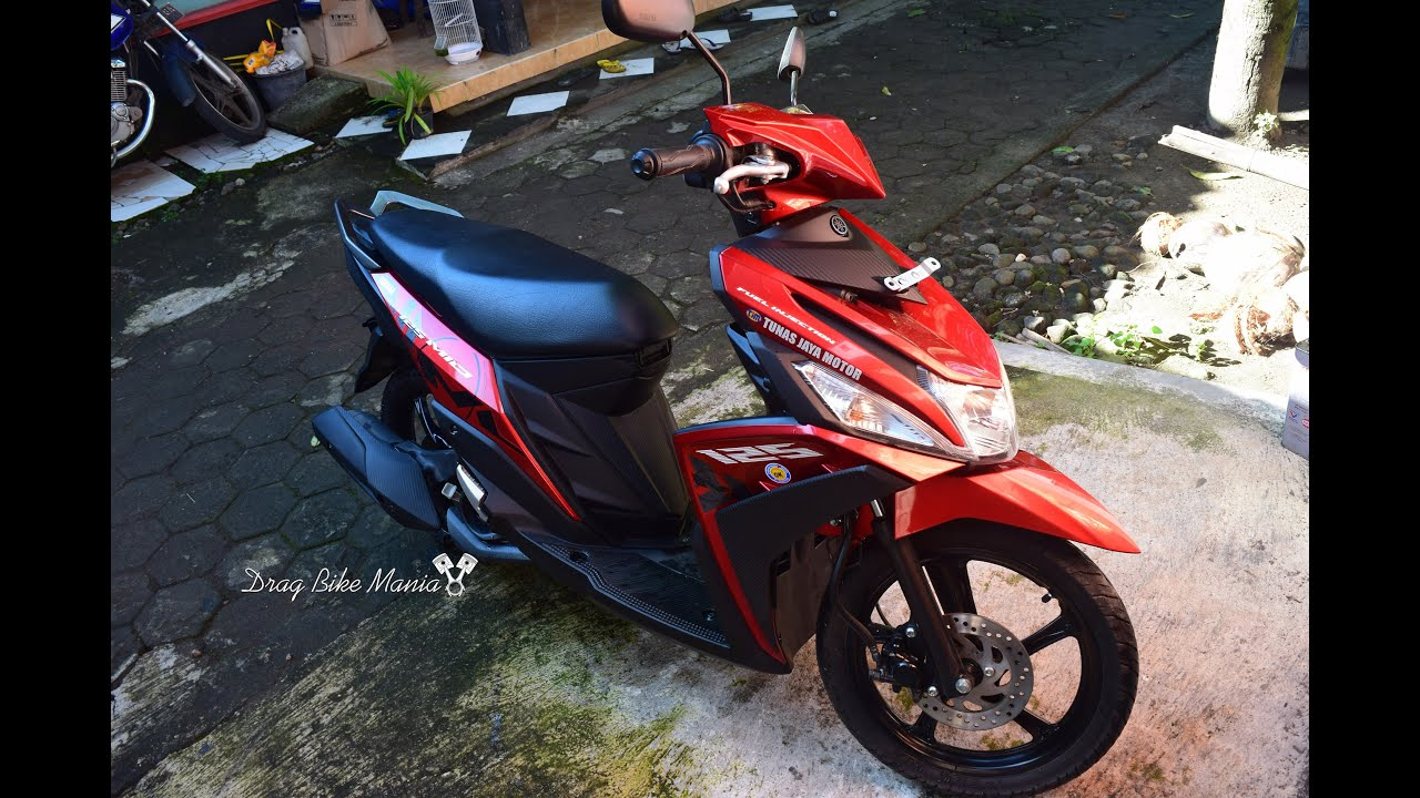 review yamaha mio m3 125 blue core selfie red - youtube