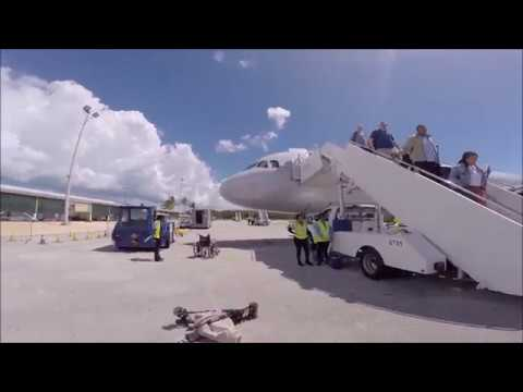 American Airlines Airbus A321 Landing Owen Roberts Intl. Grand Cayman MWCR